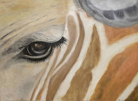 Giraffe in captivity by Barbara Anna Knauf