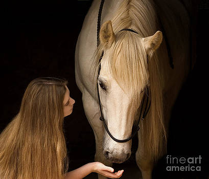 Girl and horse by Sharon Kingston