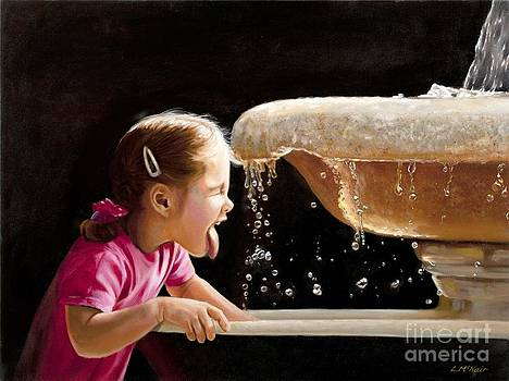 Girl at Fountain of Youth by Loretta McNair