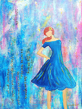 Girl in blue dress by Lauretta Curtis