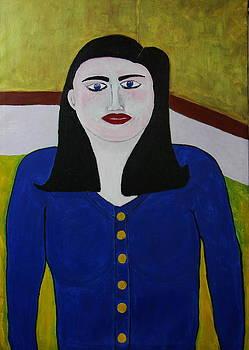Girl in Blue Sweater by Michael Kovacs