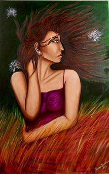 Girl in Wind by Saranya Haridasan