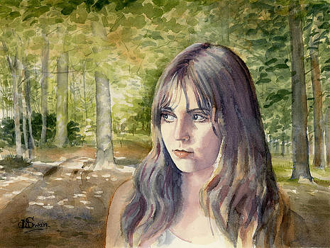Girl in Woodlands by Maddy Swan