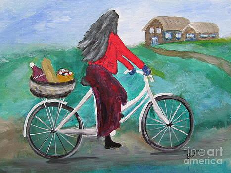 Girl on A Bike by Beverly Livingstone