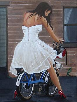 Girl on a Moped by Harold Hopkinson