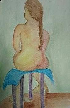Girl on a Stool by Dalene Turner