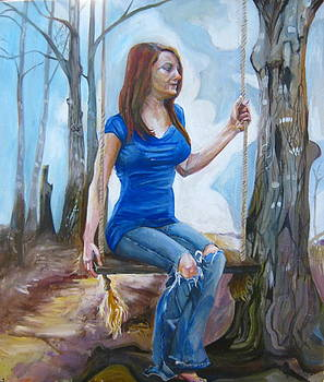 Girl On Swing by Devin Hunter