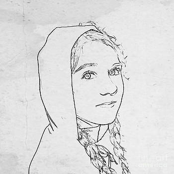 Randy Steele - Girl with Cape Sketch