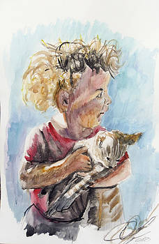 Girl With Cat by Vaidos Mihai