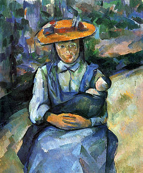 Girl with Doll by Cezanne by John Peter