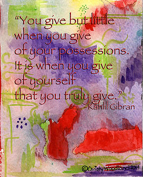 Give by Christy Woodland