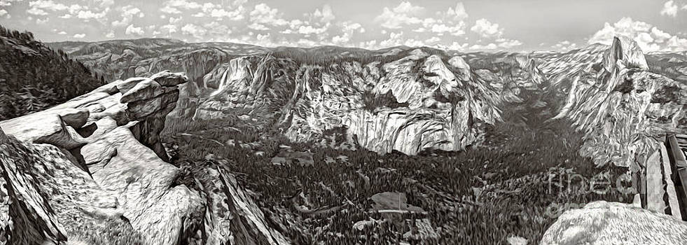 Gregory Dyer - Glacier Point Yosemite - sepia