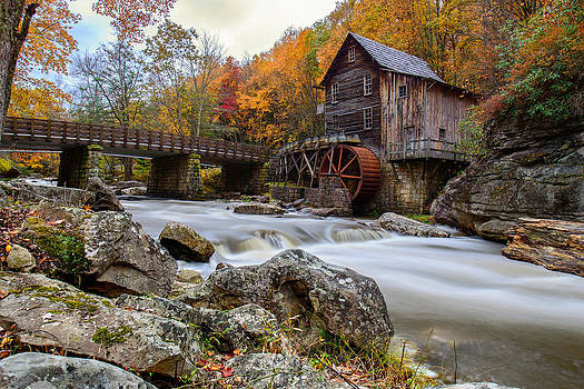 Glade Creek Grist Mill-Babcock State Park West Virginia by Dick Wood