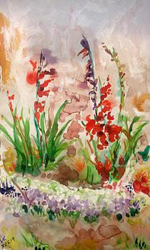 Gladioli by Vladimir Kezerashvili