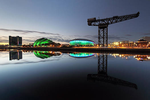 Glasgow River Clyde Reflection by Grant Glendinning