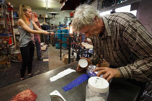 Glass art process by Paul Indigo