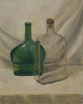 Glass bottles by Todd Swart