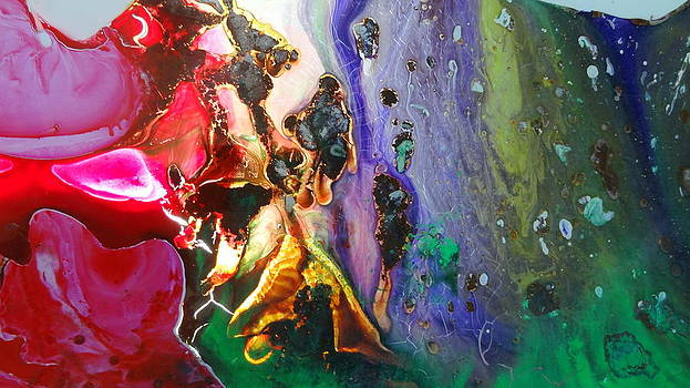 Glass Painting 24 detail 5 by Patrick Morgan