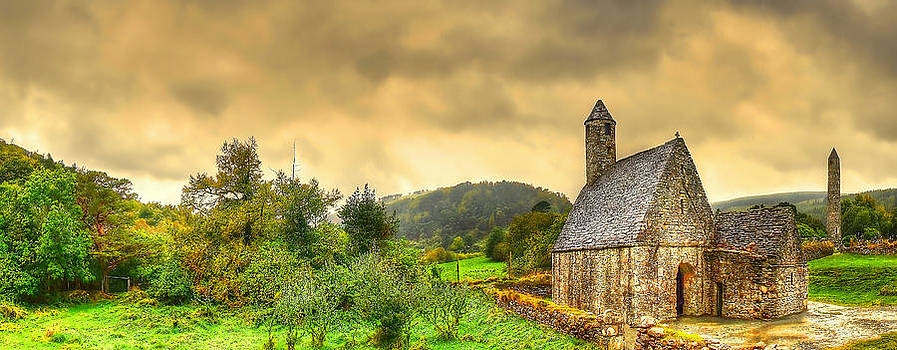 Glendalough Tower and St Kevin's Church by Kim Shatwell-Irishphotographer