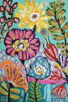 Glorious Flowers Mixed Media  by Karen Fields