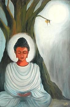 Glowing Budhha by Shilpi Singh