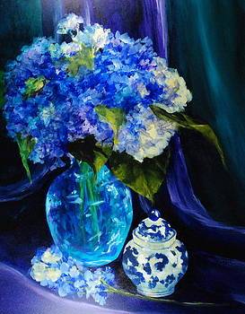 Donna Pierce-Clark - Glowing Hydrangeas