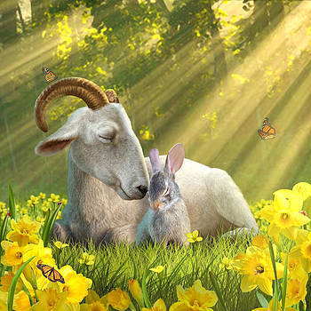 Goat and Bunny by Jessica LeClerc