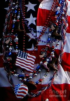 Gail Matthews - God Bless America Flag Shirt and  Jerry Beads