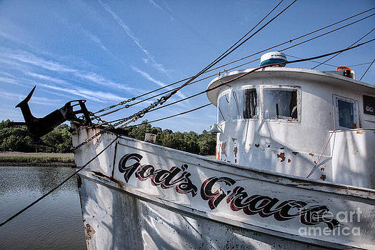 God's Grace Shrimp Boat by Vicki Kohler