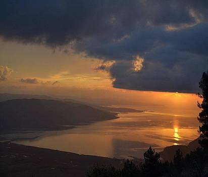 Tracey Harrington-Simpson - Gokova Sunset and Storm Clouds