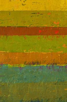 Michelle Calkins - Gold and Green with Blue