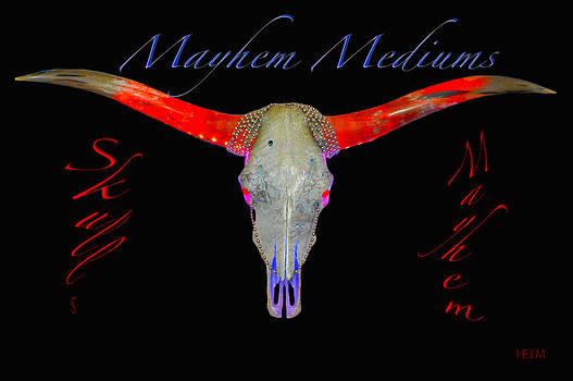 Gold and white Illuminating Longhorn by Mayhem Mediums