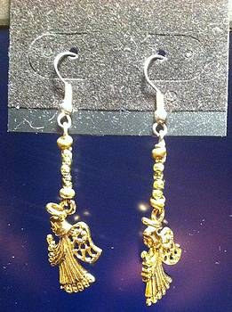 Gold Angel Earrings by Kimberly Johnson