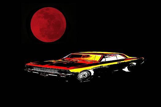 Gold Car Under A Blood Moon by Jo Nathon Dutton