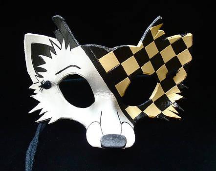 Gold Checkered Fox by Fibi Bell