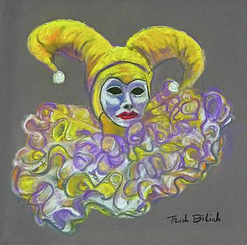 Gold Lady Jester by Trish Bilich