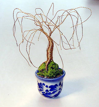Gold Willow in Glass Base by Sal Villano