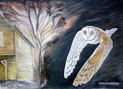 Golden Brown Owl by Blossom Hackett