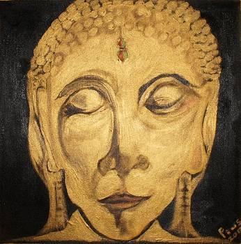 Golden Buddha Nirvana by Pius Kendakur