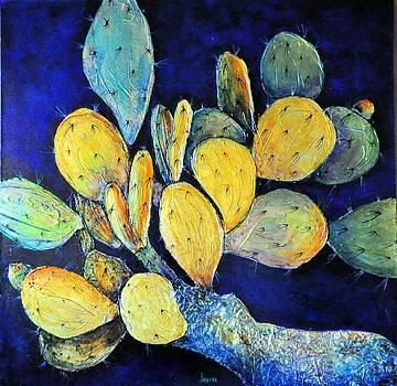 Golden Cactus Fruit by JAXINE Cummins