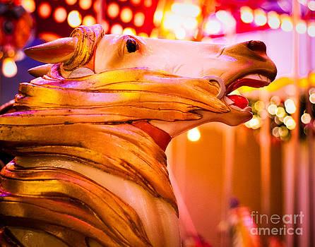 Sonja Quintero - Golden Carousel Horse