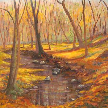 Golden Days Fall Landscape by Robie Benve