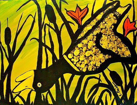 Golden Duck by Esther Wilhelm Pridgen