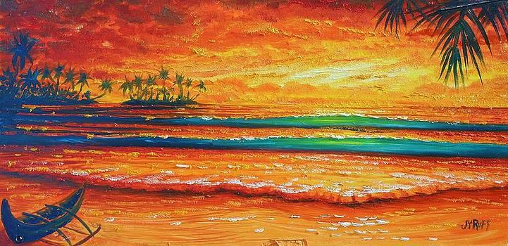 Golden evening with my canoe by Joseph   Ruff