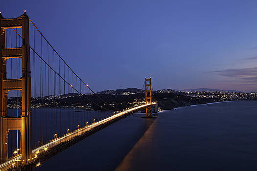 Golden Gate Bridge After Dark by Kevin L Cole