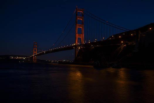 Golden Gate Bridge at Night 02 by SFPhotoStore
