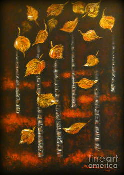 Golden leaves 1 by Elena  Constantinescu