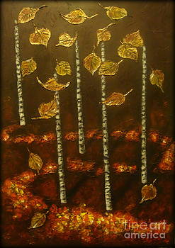 Golden leaves 2 by Elena  Constantinescu