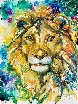 Golden Lion by Patricia Allingham Carlson