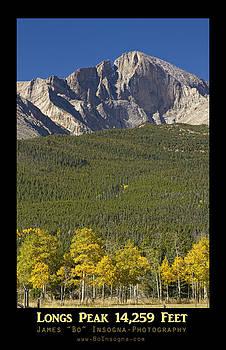 James BO  Insogna - Golden Longs Peak 14259 Poster
